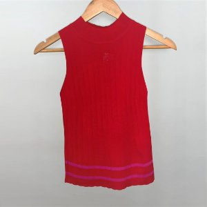 Blusa Tricot Vermelho e Rosa Oxo Paxo