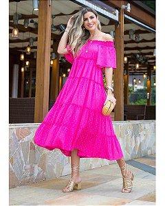 Vestido Heleni Midi Pink Ave Rara
