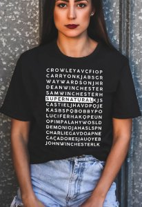 Camiseta Caça Palavras Supernatural