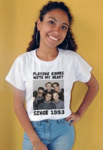 Camiseta Playing Games With My Heart Since 1993 Backstreet Boys - PRETO