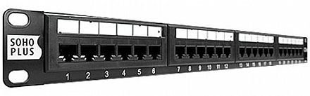 Patch Panel 24 portas Cat.5e - SohoPlus