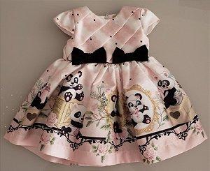 Vestido Estampado Urso Panda Petit Cherie Ref. 31090
