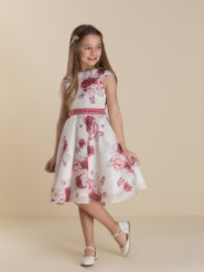 Vestido estampado em seda Petit Cherie Ref: 31090