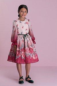 Vestido em seda Florido Petit Cherie Ref: 31350