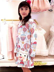 Vestido estampa Balões com bolsa Mon Sucre Ref. 80106