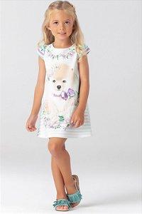 Vestido Fresh Estampado com Detalhes em Cristais PETIT CHERIE ref. 31012