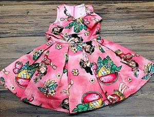 Vestido Estampado Hula-Hula com Recorte Transpassado MON SUCRÉ ref. 31000