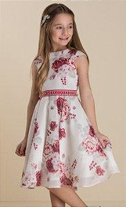 Vestido em seda floral Petit Cherie Ref. 31069