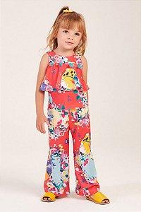 Conjunto Camisa Manga Curta Floral Tropical MON SUCRÉ ref. 80122