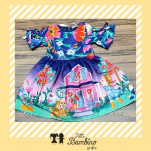 Vestido Manga Curta Estampado Camponesa MON SUCRÉ ref. 31100