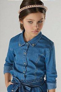 Camisa Manga Longa Jeans  REF: 40185