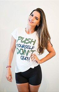 Woman Basic Push Yourself Dont Quit Branca