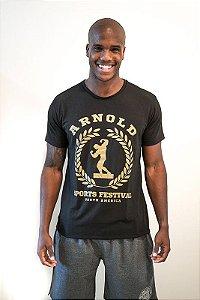 Camiseta Man Basic Arnold Sports Festival Preta