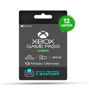 Xbox Game Pass Ultimate 12 Meses  Mídia Digital