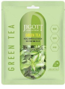 Máscara Facial Hidratante Jigott Green Tea Real Ampoule Mask - SISI