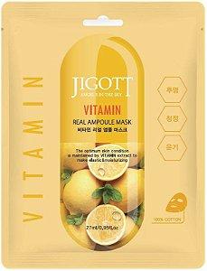 Máscara Facial Iluminadora Jigott Vitamin Real Ampoule Mask - SISI
