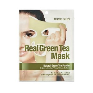 Máscara Facial Hidratante Royal Skin Real Green Tea Mask