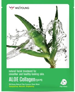 Máscara Facial Hidratante Wizyoung Aloe Collagen Essence Mask Pack - SISI