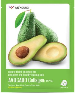 Máscara Facial Nutritiva Wizyoung Avocado Collagen Essence Mask - SISI