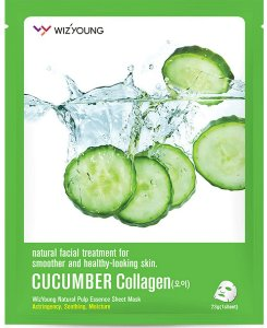 Máscara Facial Hidratante Wizyoung Cucumber Collagen Essence Mask Pack - SISI
