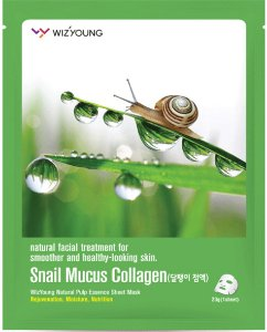 Máscara Facial Antissinais  Wizyoung Snail Mucus Collagen Essence Mask - SISI