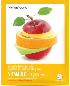 Máscara Facial Hidratante Wizyoung Vitamin Collagen Essence Mask Pack - SISI