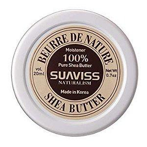 Hidratante natural manteiga de karité Suaviss Organic Shea Butter - SISI
