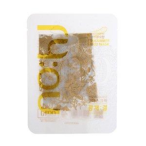 Máscara Facial Calmante com estampa de Flores Douradas - SISI