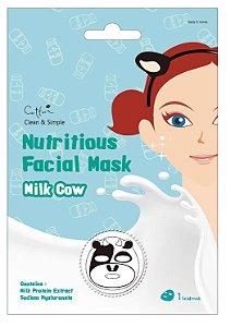 Máscara Facial com estampa de vaca - SISI