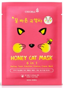 Máscara Facial 6 em 1 - Crecell Honey Cat