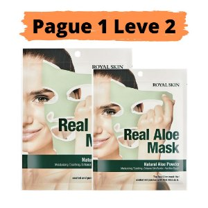 PAGUE 1 LEVE 2 Máscara facial hidratante - Royal skin real aloe