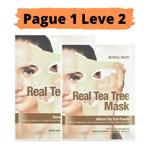 PAGUE 1 LEVE 2 Máscara facial hidratante - Royal skin real tea tree