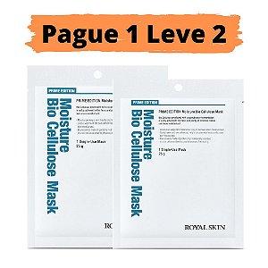 PAGUE 1 LEVE 2 Máscara facial bio celulose - Royal skin prime moisture