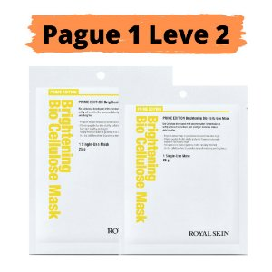PAGUE 1 LEVE 2 Máscara facial bio celulose - Royal skin prime brightening