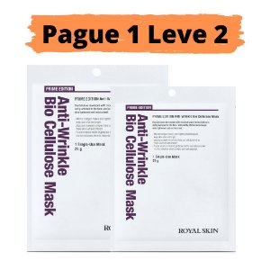 PAGUE 1 LEVE 2 Máscara facial bio celulose - Royal skin prime anti wrinkle