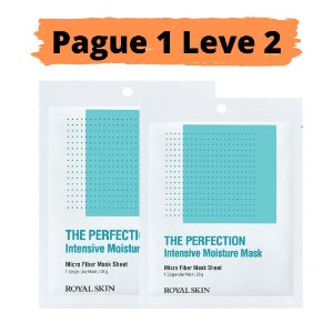 PAGUE 1 LEVE 2 Máscara facial micro fibra - Royal skin the perfection moisture