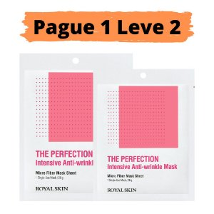 PAGUE 1 LEVE 2 Máscara facial micro fibra - Royal skin the perfection anti wrinkle