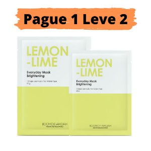 PAGUE 1 LEVE 2 Máscara facial iluminadora - Boom de ah dah lemon lime