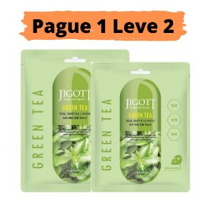 PAGUE 1 LEVE 2 Máscara facial hidratante - Jigott green tea