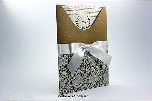 Pacote de 10 Convites de Casamento modelo Ilha de Maraca rústico
