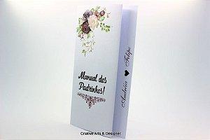 Pacote de 4 Convites Manual para Padrinhos modelo sanfonado