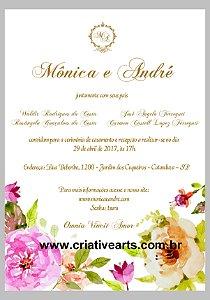 Arte digital de convite de casamento, aniversário ou bodas