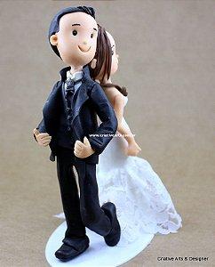 Topo de Bolo para Casamento Modelo Sr. e Sra. SMITH