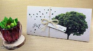 Pacote de 10 Convites de casamento modelo tree