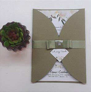 Pacote de 10 Convites modelo Borboleta