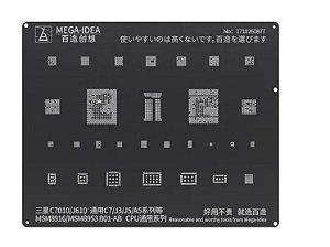 Stencil Reballing bga Samsung Black C7010 /j610 /c7 /j3 /j5 /a5