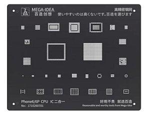 Stencil Reballing bga  Black Stencil Para iPhone 6 6plus