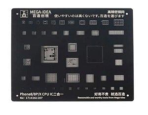 Stencil Reballing bga Black Idea Black iPhone 8 8plus X
