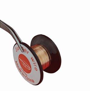 Rolo De Fio De Cobre Para Jumper 0.1mm Rolo