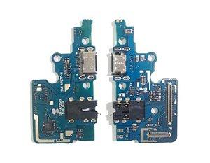 GALAXY A70 A705 - PLACA CONECTOR CARGA MICROFONE P2